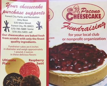 Mothers' Day Cheesecake sale - orders must be in by April 26, 2019.