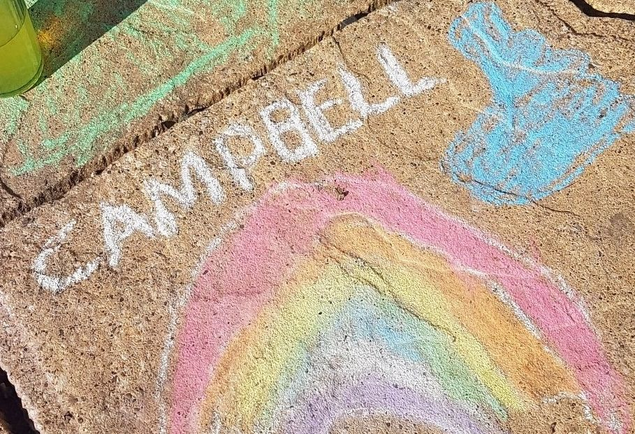 Campbell Burns chalk drawing