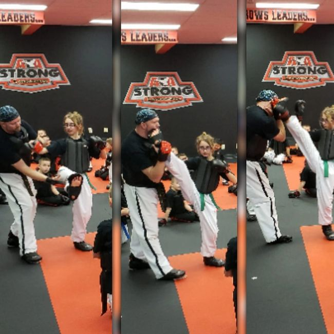 Teaching Flip Kicks to Karate Kids