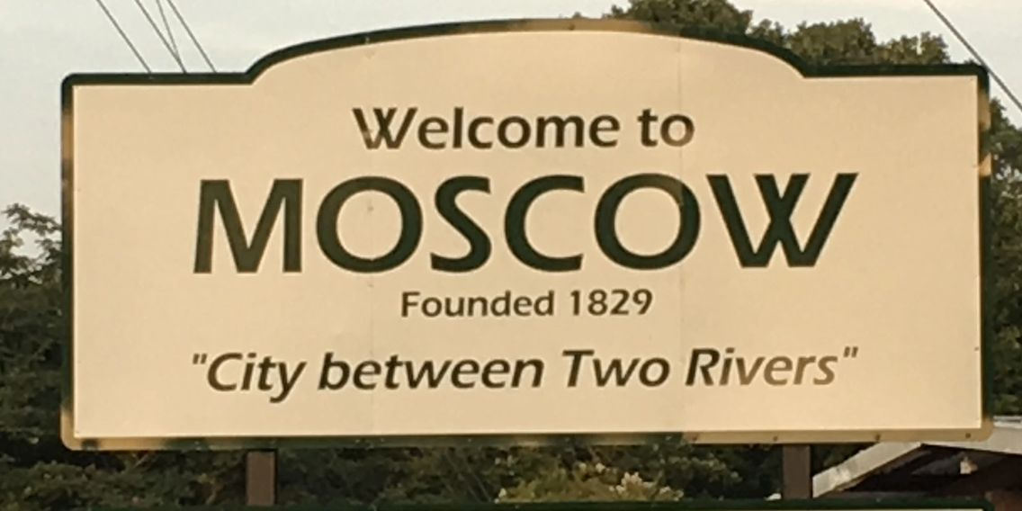 Welcome to Moscow sign
