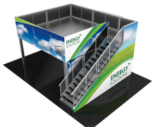 Two story exhibit booth rental 20 x 20