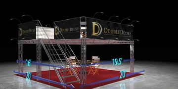 Double Deck exhibit trade show booth rental