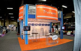 Trussworks 20 x 20 double deck trade show exhibit booth