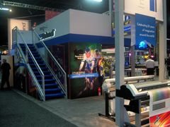 Custom double deck trade show rental booth
