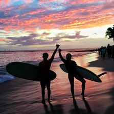 Sunrise or sunset sessions every day year long beautiful island of Oahu Hawai'i