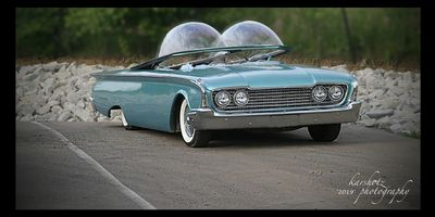 This is The Spaceliner Bubble Top Custom Car shot in Indianapolis, IN. At The Custom Car Revival.