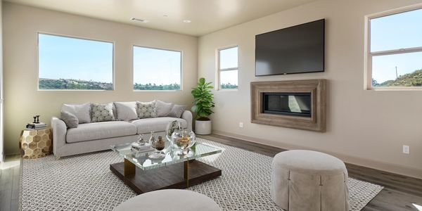 Image of living room of model at Cortona Homes.