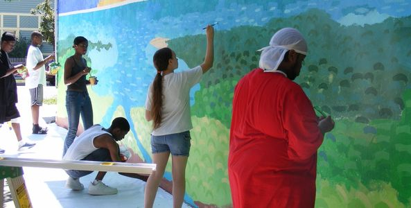 A.W.E. (Air, Water, Earth) Watershed Mural - Summer Youth Employment Program