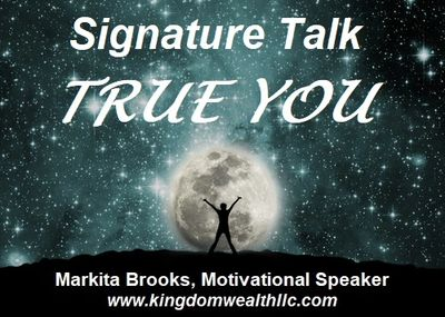Invite Markita Brooks, motivational speaker, to speak at your event.