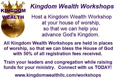 Host a Kingdom Wealth Workshop!