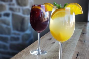 Homemade Sangria at JOJO Coffeehouse