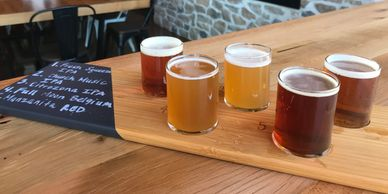 Enjoy from a wide array of craft beer flights,  wine flights, mimosa flights