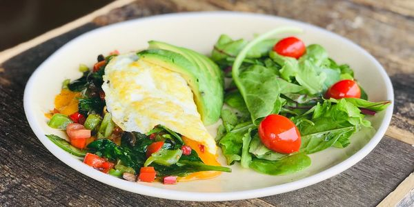 Egg White Breakfast Omelelette prepared with the freshest ingredients at JOJO Coffeehouse.