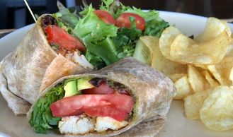 Lunch at JOJO Coffeehouse Restaurant in Old Town Scottsdale. Sandwiches, salads, and wraps.