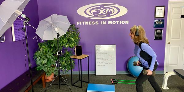 Terry Frare virtual training at Fitness In Motion Personal Training.