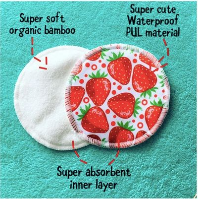 Little Strawberries Organic Bamboo Reusable Nursing Pads