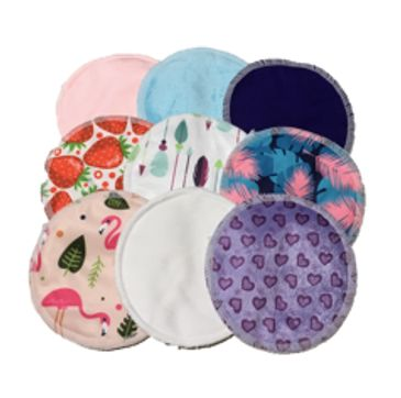 reusable nursing pads, nursing pads, breast pads, organic bamboo nursing pads, reusable breast pads