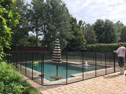 If you do not have a screen enclosure, we'll wrap the pool fence completely around the pool.