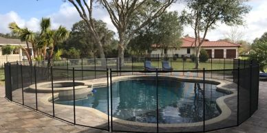 Pool Fence installed on Chapman Road in Oviedo.