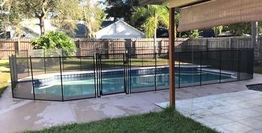 Another wrap around the swimming pool. We added a Self Closing Gate for easy access.
