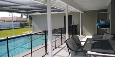 "42"" Pet Fence by Life Saver Pool Fence of Central Florida 407-365-2400"