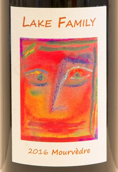 Lake Family Mourvedre 2016 label