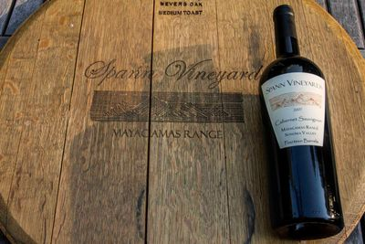 Spann Vineyards Cabernet Sauvignon 2007 on barrel end
