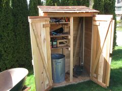 This cute custom garden shed was the perfect solution to our customer's garden storage requirements.
