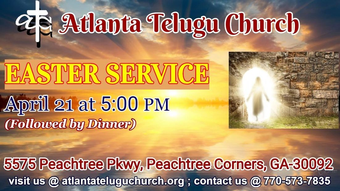 EASTER SERVICE @ 5:00 PM TODAY!!