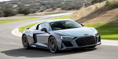 Audi R8 V10 Tuning. DSG. Pop Bang Crackle. 2-step antilag flames. Decat. Max speed removal.