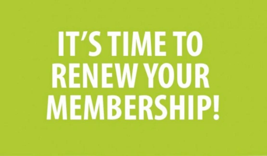 Annual membership are now as of January 1st, 2020. Link to rejoin on-line. It's quick and secure....