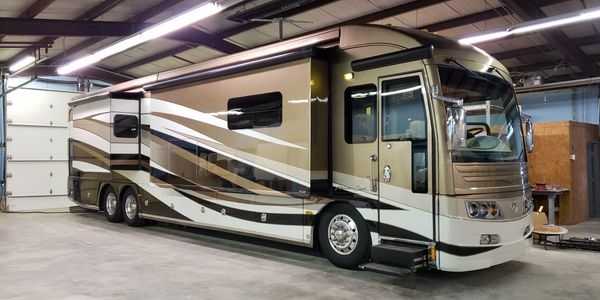 RV Repair company working on one of our customers motor homes.