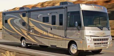 Examples of motor homes this motor home repair company works on.