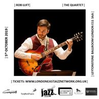 ROB LUFT JAZZ GUITARIST PLAYING GUITAR AT A FESTIVAL BBC JAZZ MUSICIAN