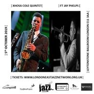 XHOSA COLE SAXOPHONE PLAYING  LONDONJAZZ FESTIVALS  WITH JAY PHELPS ON TRUMPET PLAYING JOHN COLTRANE