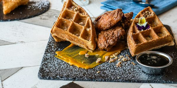 Chicken & Waffles, Buttermilk French Toast, Chilaquiles, Puff Pastry, Yogurt Parfait