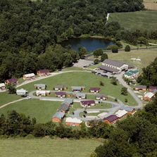 Aerial view of The Lodges.