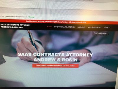 SaaS Contracts Attorney Andrew S Bosin LLC drafts subscription and master service agreements.
