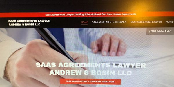SaaS Agreements Lawyer Andrew S Bosin LLC drafts and negotiates contracts for startups & vendors.