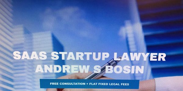 SaaS Startup Lawyer Andrew S Bosin LLC charges low cost fixed rate legal fees packages.