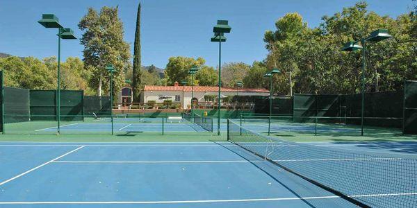 Photo of the Tennis Courts on a sunny day at Warner Springs Ranch Resort.