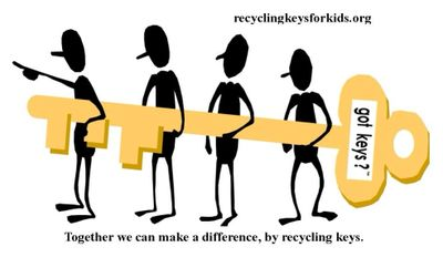 Together we can make a difference, by recycling keys.