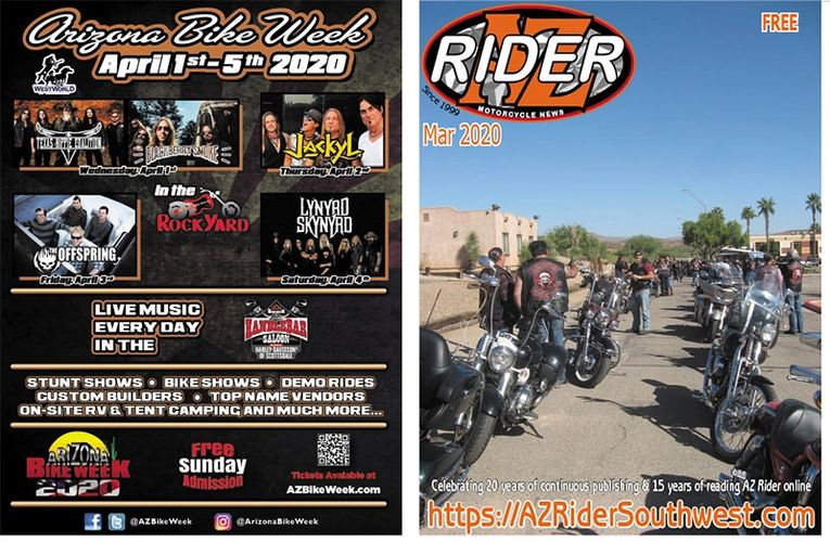March 2020 issue AZ Rider Motorcycle News