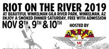 ACMC Riot on the River motorcycle run Winkelman, AZ