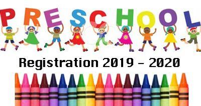 Image result for preschool registration 2019-2020
