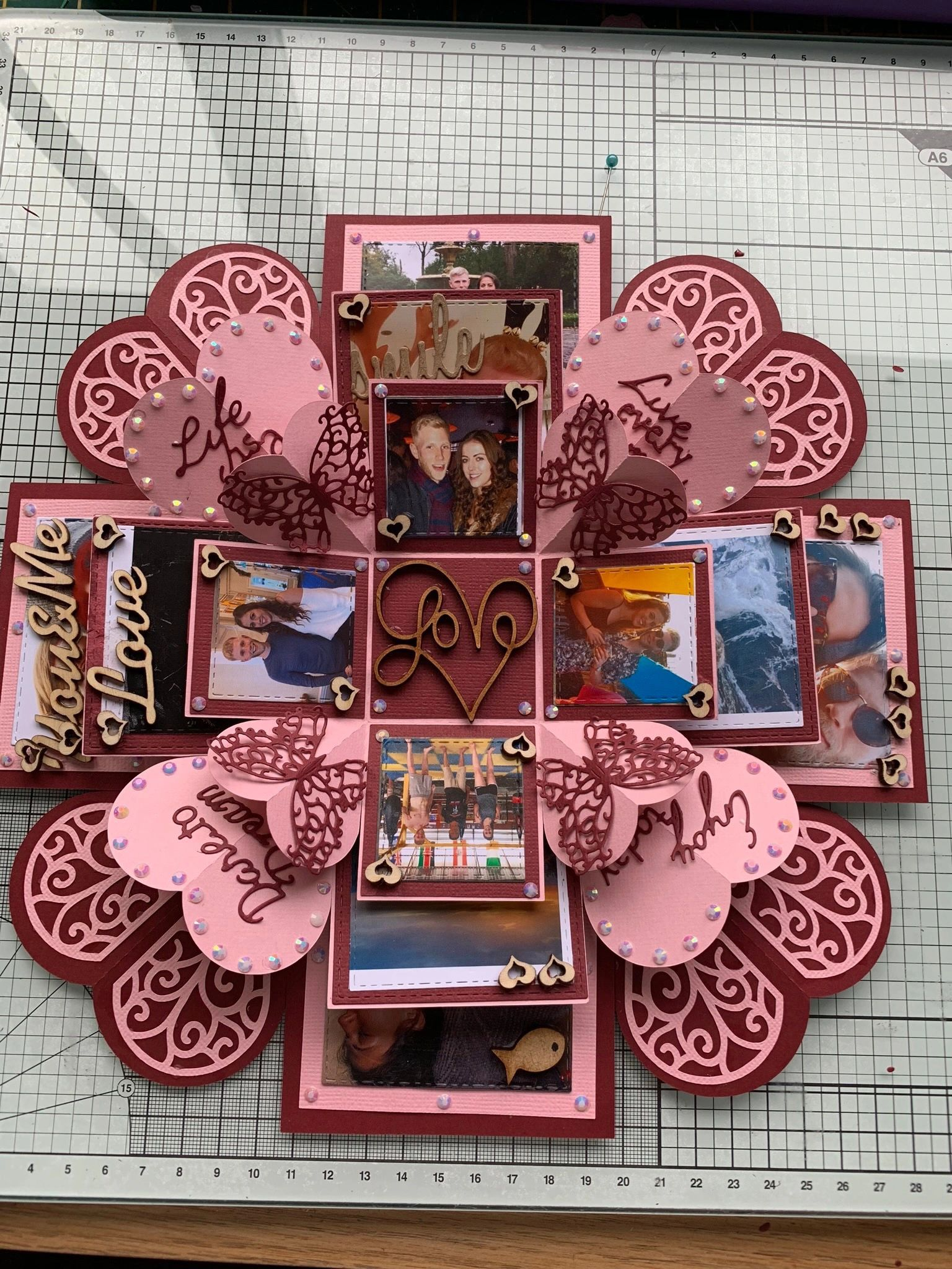 Memory box with three layers.