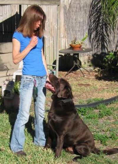 Doggie manners with dog trainer Lorraine J Smith, Heel 2 Heal Dog Training West Palm Beach Florida