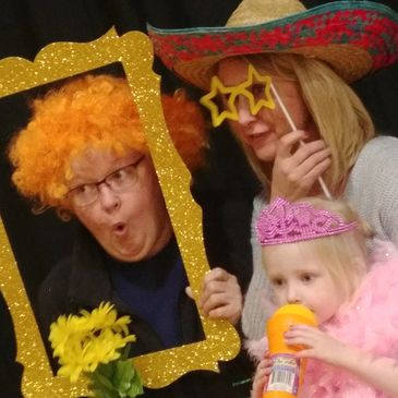 Guests enjoying their time in the photo booth.
