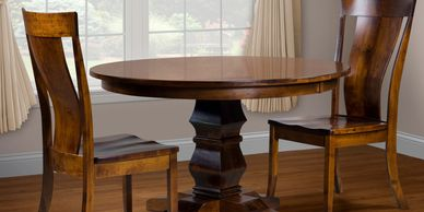 The Albany Dining Group, Artisan Furniture, Dutch Craft Furnishings,Dutch Craft Amish Furniture,Wood