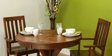 The Alberta Dining Group, Artisan Furniture,Dutch Craft Furnishings,Dutch Craft Amish Furniture,Wood